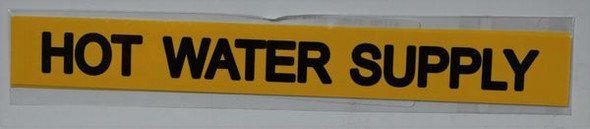 HOT WATER SUPPLY SIGN YELLOW