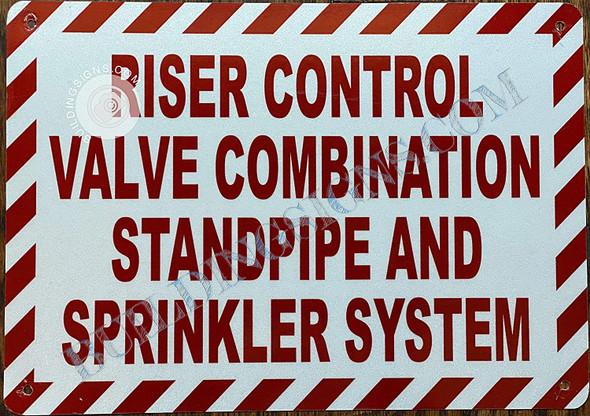 Riser Control Valve Combination Standpipe and Sprinkler System  Singange