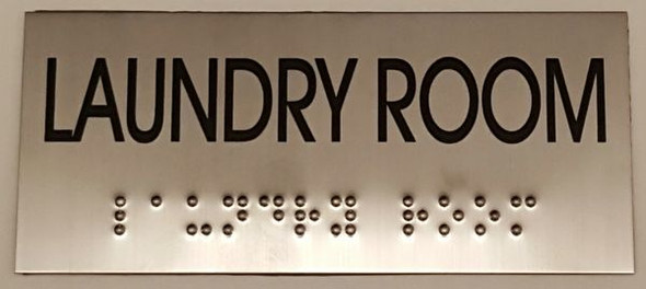 LAUNDRY ROOM Sign -Tactile Signs   Ada sign