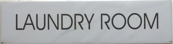 LAUNDRY ROOM SIGN - PURE WHITE