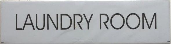 LAUNDRY ROOM SIGN White