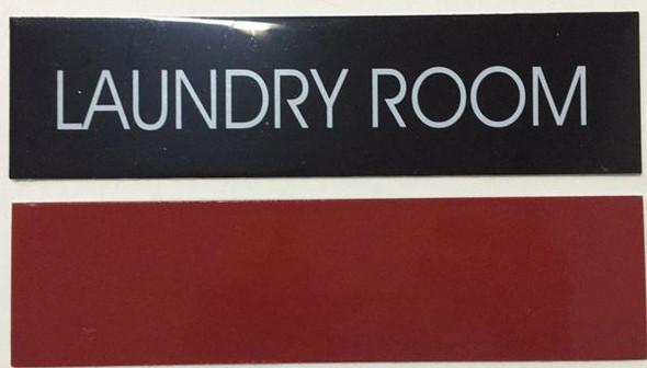 LAUNDRY ROOM SIGNAGE - BLACK