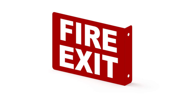 FIRE EXIT Projection Sign- FIRE EXIT 3D Sign