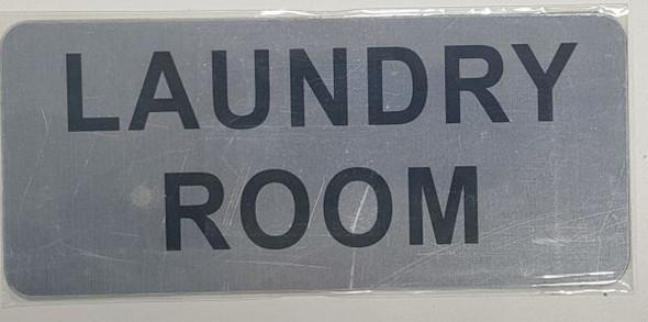 LAUNDRY ROOM SIGNAGE - BRUSHED ALUMINUM - The Mont Argent Line