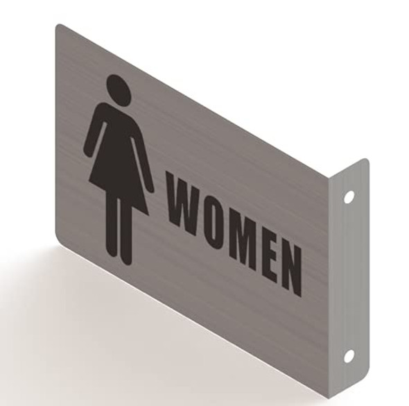 Woman Restroom Projection Sign- Woman Restroom 3D Sign Brush