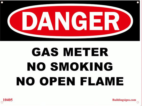 DANGER Gas Meter Sign