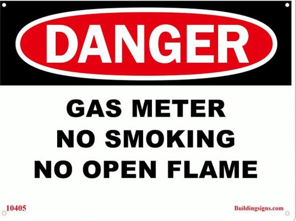DANGER Gas Meter Sign for Building