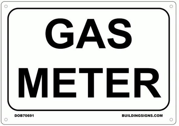 GAS METER SIGN for Building