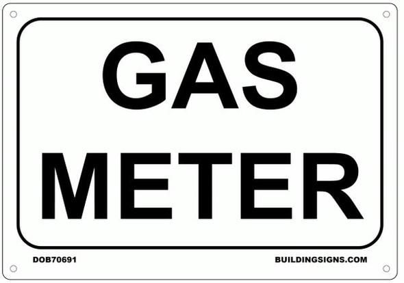 GAS METER SIGNAGE - WHITE