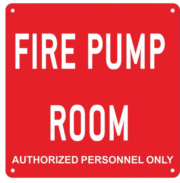 FIRE PUMP ROOM SIGN for Building