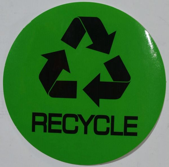RECYCLE SIGNAGE (STICKER, GREEN)