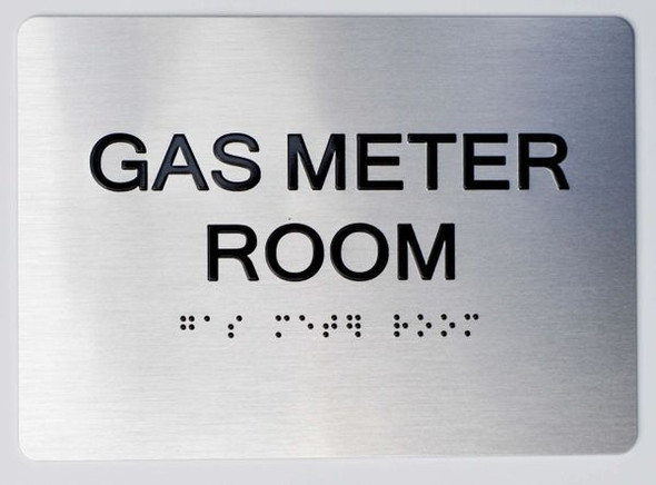 GAS METER ROOM  Braille sign -Tactile Signs  The sensation line  Braille sign