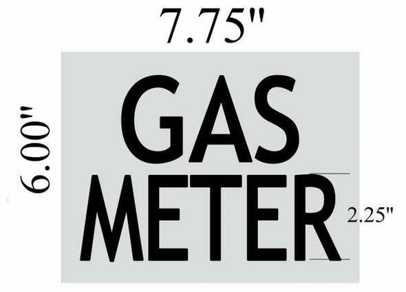 GAS METER SIGN Brushed Aluminum
