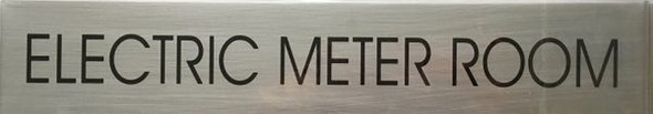 ELECTRIC METER ROOM SIGN - BRUSHED ALUMINUM