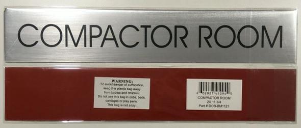 COMPACTOR ROOM HPD SIGN