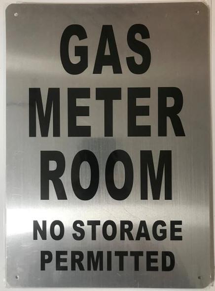 GAS METER ROOM Dob Sign