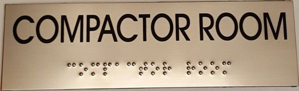 COMPACTOR ROOM Sign -Tactile Signs   Ada sign