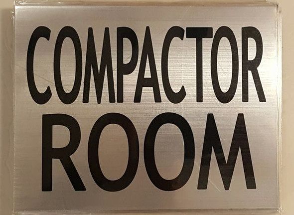 COMPACTOR ROOM SIGN for Building