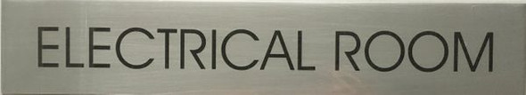 ELECTRICAL ROOM SIGN  BRUSHED ALUMINUM