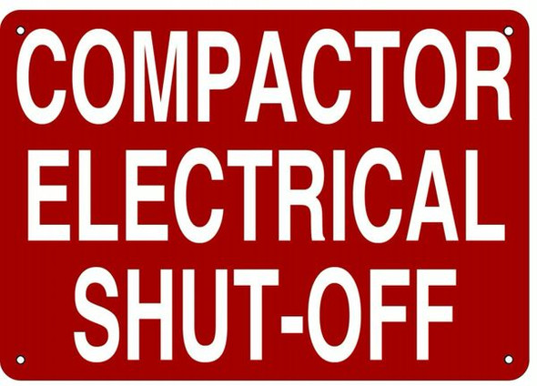 COMPACTOR ELECTRICAL SHUT-OFF SIGN