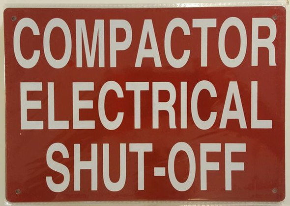 COMPACTOR ELECTRICAL SHUTOFF SIGN
