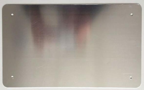 BOILER ROOM SIGNAGE- WHITE ALUMINUM