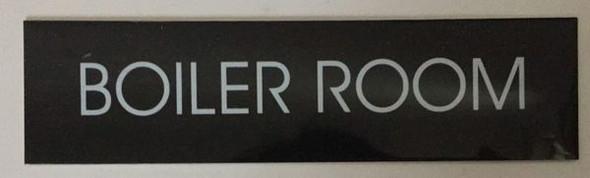 BOILER ROOM SIGN - BLACK