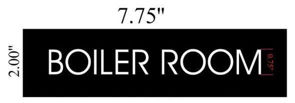 BOILER ROOM SIGNAGE - BLACK