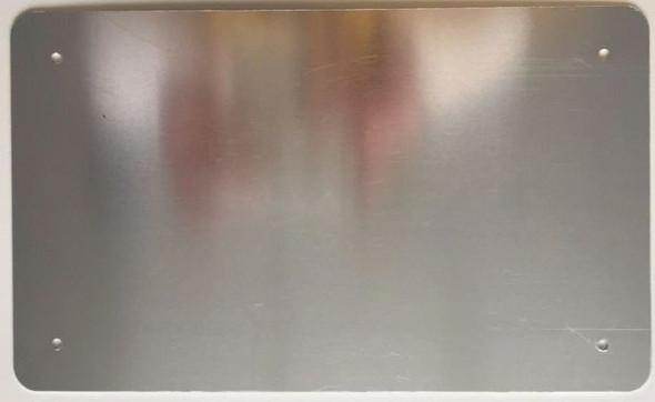 COMPACTOR ROOM SIGNAGE- WHITE ALUMINUM