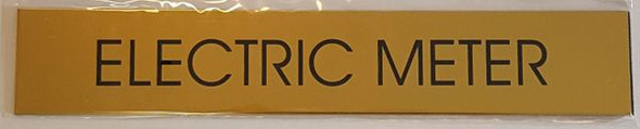 ELECTRIC METER SIGN - GOLD ALUMINUM
