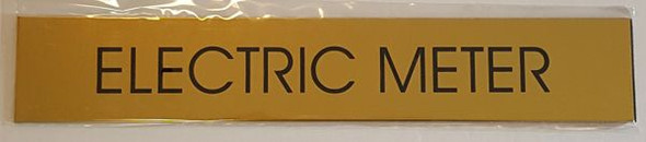 ELECTRIC METER SIGNAGE - GOLD ALUMINUM