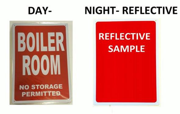 BOILER ROOM Sign Red