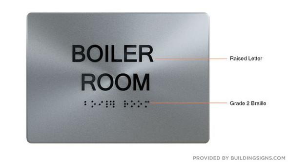 BOILER ROOM  Braille sign -Tactile Signs  The sensation line   Braille sign