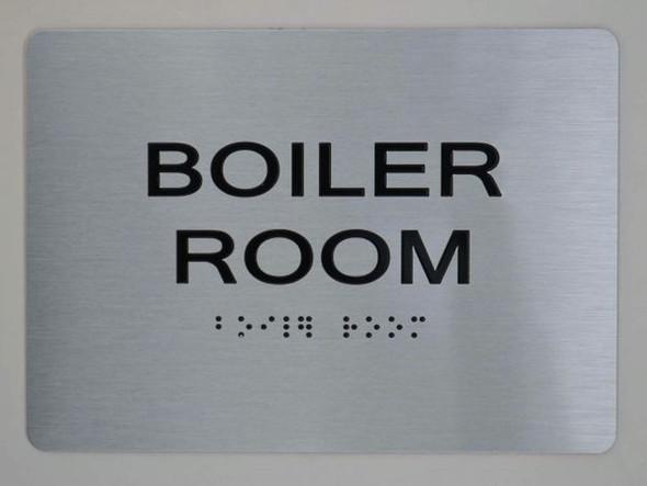 BOILER ROOM  Braille sign -Tactile Signs  The sensation line