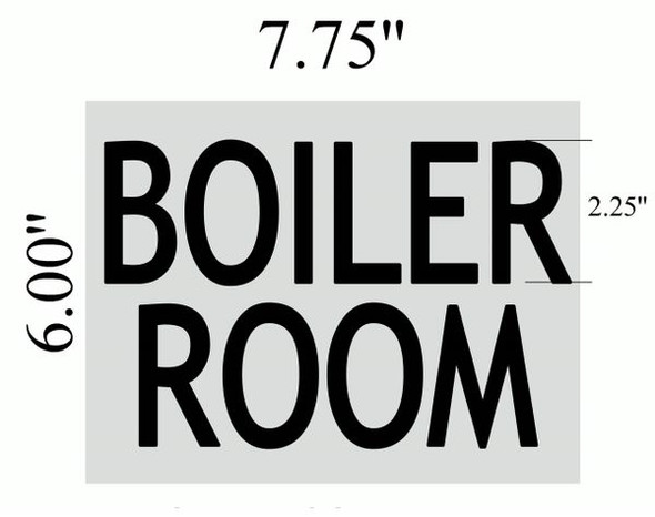 BOILER ROOM SIGN Brushed Aluminum