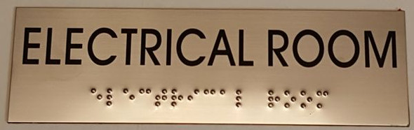ELECTRICAL ROOM Sign -Tactile Signs   Braille sign