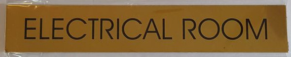 ELECTRICAL ROOM SIGN - GOLD ALUMINUM