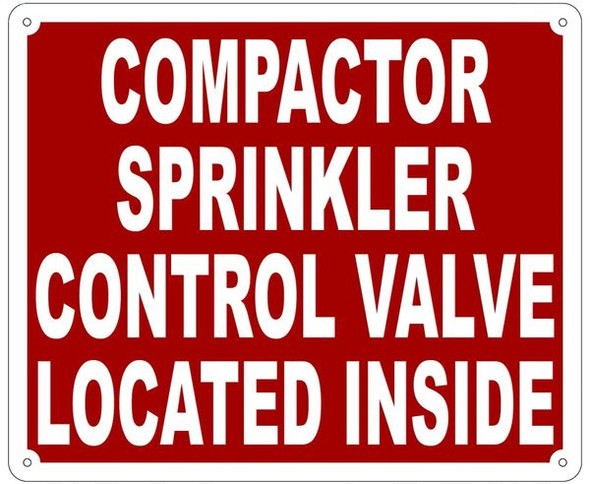 COMPACTOR SPRINKLER CONTROL VALVE LOCATED INSIDE