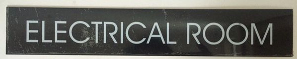 ELECTRICAL ROOM SIGN - BLACK