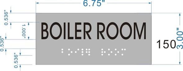 BOILER ROOM Sign -Tactile Signs    Braille sign