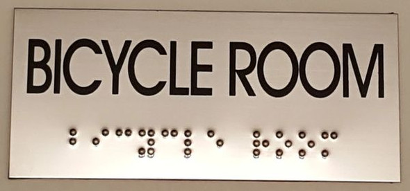 BICYCLE ROOM Sign -Tactile Signs   Ada sign