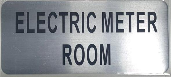 ELECTRIC METER ROOM SIGN Brushed Aluminum