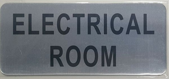 ELECTRICAL ROOM SIGN  BRUSHED ALUMINUM - The Mont Argent Line