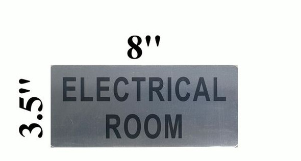 ELECTRICAL ROOM SIGNAGE  BRUSHED ALUMINUM - The Mont Argent Line