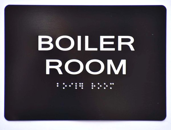 BOILER ROOM SIGN Black