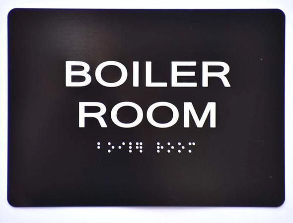 BOILER ROOM SIGN Tactile Signs   Braille sign