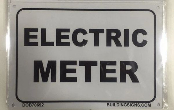 SIGNAGE ELECTRIC METER  - PURE WHITE
