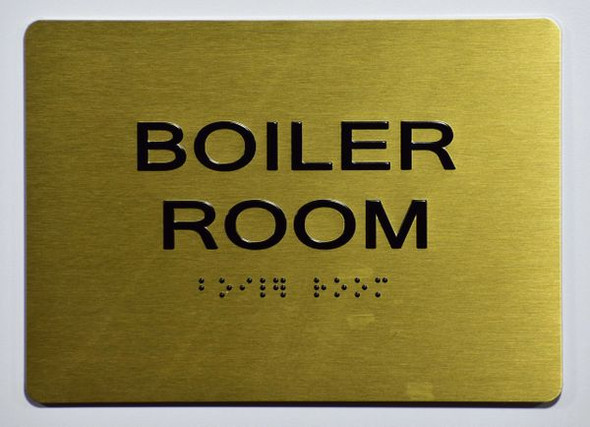 BOILER ROOM Sign -Tactile Signs Tactile Signs Ada sign