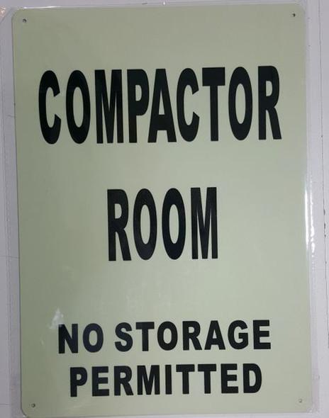 COMPACTOR ROOM Dob SIGN
