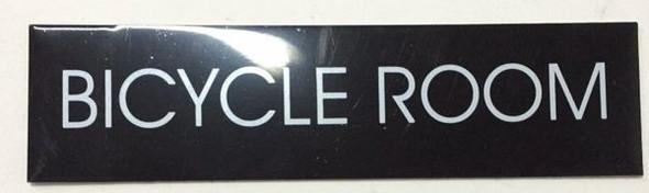 BICYCLE ROOM SIGN - BLACK